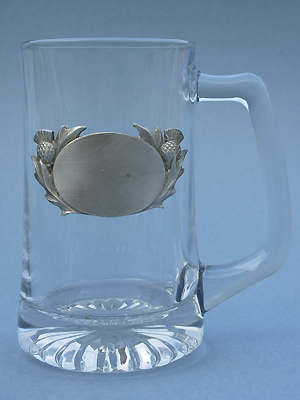 Thistle Engravable Beer Mug Lead Free Pewter