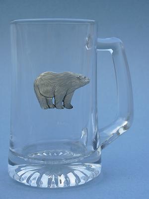 Standing Polar Bear Beer Mug - Lead Free Pewter