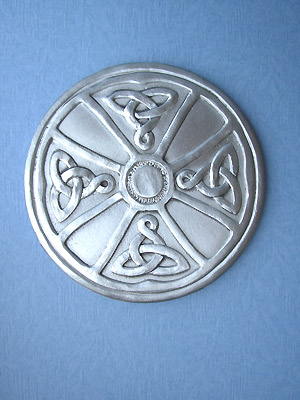 Ardagh Chalice Cross Coaster - Lead Free Pewter