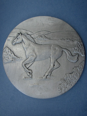 Running Horse Coaster - Lead Free Pewter