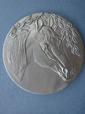 Horse Head Each Coaster - Lead Free Pewter