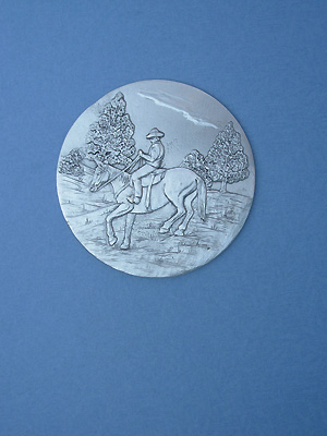 Horse /Rider Each Coaster - Lead Free Pewter