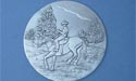 Horse /Rider Coaster - Lead Free Pewter