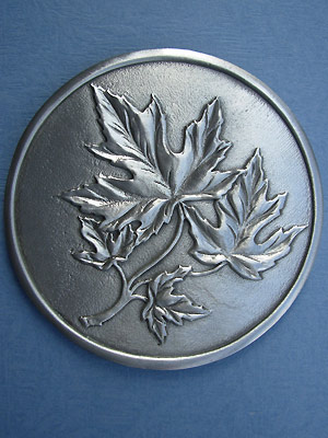 Maple Leaf Coaster - Lead Free Pewter