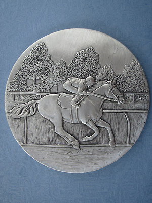 Jockey Coaster - Lead Free Pewter