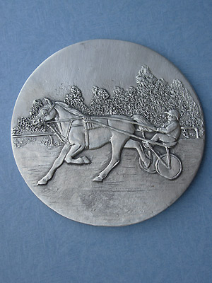 Sulky /Rider Each Coaster - Lead Free Pewter