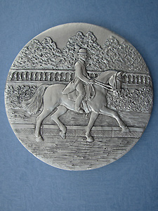 Dressage Each Coaster - Lead Free Pewter