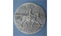 Dressage Coaster - Lead Free Pewter