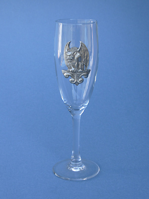 Perched Gargoyle Champagne Glass - Lead Free Pewter