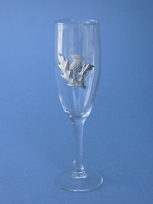 Thistle Champagne Glass - Lead Free Pewter