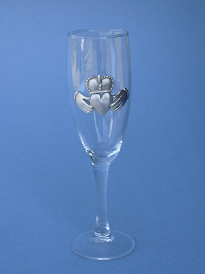 Claddagh Champagne Glass - Lead Free Pewter