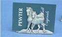 Mare /Foal Business Card Holder - Lead Free Pewter