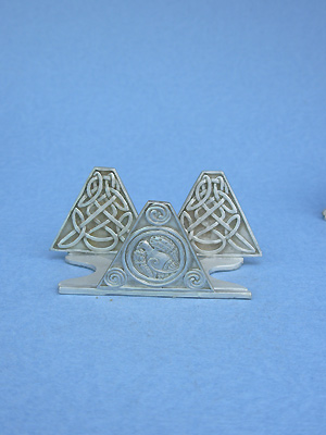 Celtic Design Business Card Holder - Lead Free Pewter