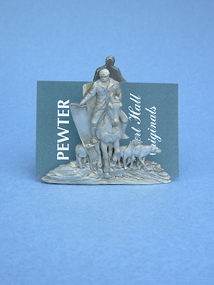 Hunt Business Card Holder - Lead Free Pewter