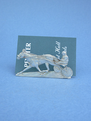 Sulky & Rider Business Card Holder - Lead Free Pewter