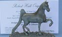 American Saddlebred Business Card Holder - Lead Free Pewter
