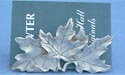 Solid Maple Leaf Business Card Holder - Leaf Free Pewter