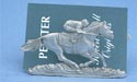 Single Jockey Business Card Holder - Lead Free Pewter