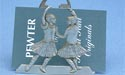 Highland Dancers Business Card Holder - Lead Free Pewter