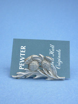 Thistle business card holder lead free pewter business card thistle business card holder lead free pewter reheart Gallery