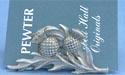 Thistle Business Card Holder - Lead Free Pewter