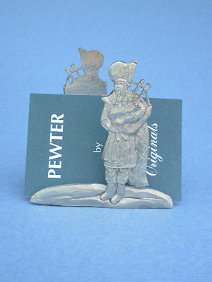 Piper Business Card Holder - Lead Free Pewter