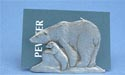 Mother & Baby Business Card Holder - Lead Free Pewter