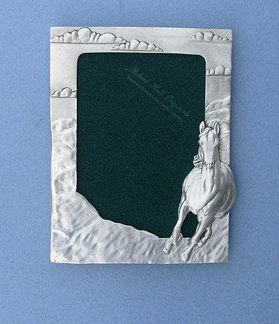 5x7 Horse Picture Frame - Lead Free Pewter