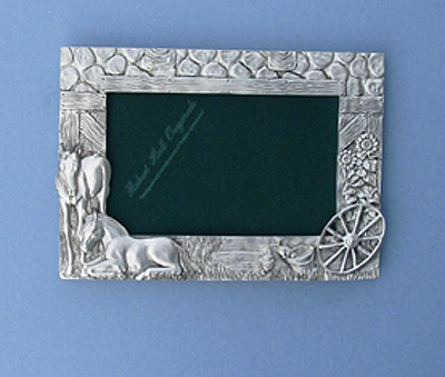 4x6 Colts /Barn Picture Frame - Lead Free Pewter