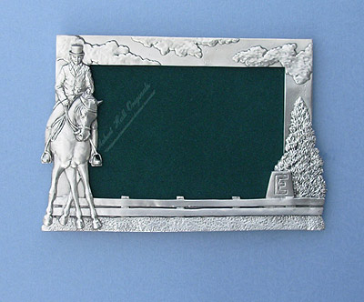 5x7 Dressage Picture Frame - Lead Free Pewter
