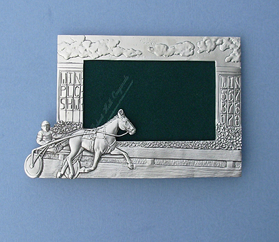 4x6 Sulky & Rider - Lead Free Pewter