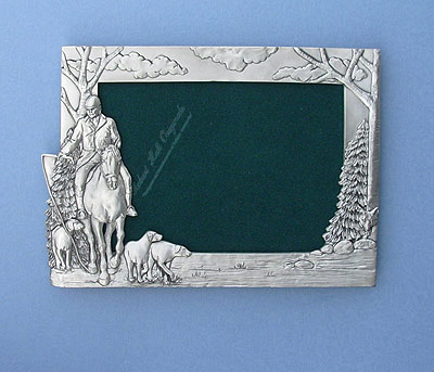 5x7 Hunter Picture Frame - Lead Free Pewter