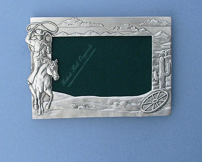 4x6 Rodeo Picture Frame - Lead Free Pewter