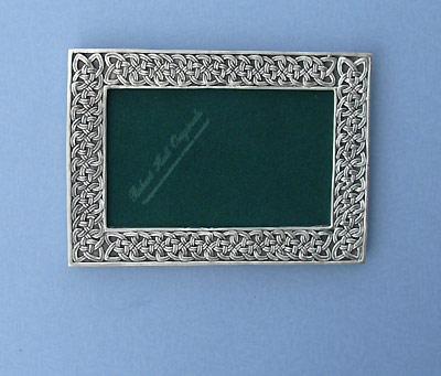 4x6 Celtic Design Picture Frame - Lead Free Pewter