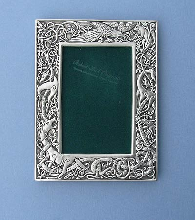 4x6 Celtic Animal Picture Frame - Lead Free Pewter