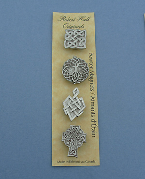Celtic - Set of 4  Magnets - Lead Free Pewter