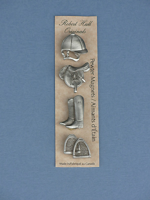 English - Set of 4 Magnets - Lead Free Pewter
