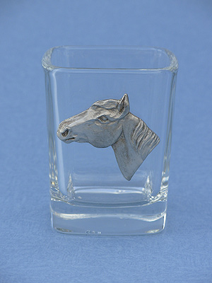Horse Head Shot Glass - Lead Free Pewter