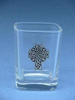 Celtic High Cross - Lead Free Pewter Shot Glass