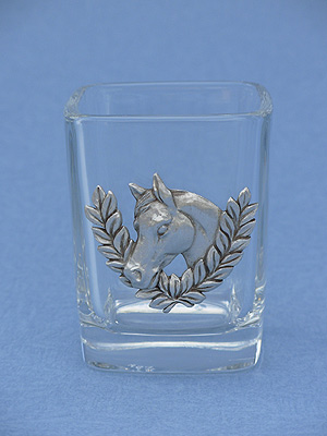 Horse /Wreath Shot Glass - Lead Free Pewter