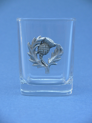 Thistle Shot Glass - Lead Free Pewter