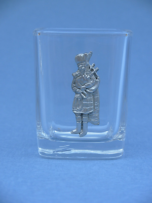 Standing Piper Shot Glass - Lead Free Pewter