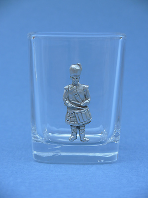 Drummer Shot Glass - Lead Free Pewter