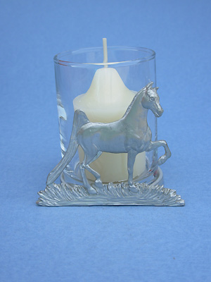 American Saddlebred Two Piece Votive Holder - Lead Free Pewter