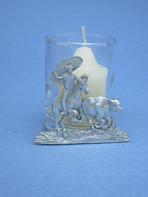 Rodeo Two Piece Votive Holder - Lead Free Pewter