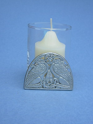 Double Griffin Two Piece Votive Holder - Lead Free Pewter