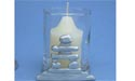 Inukshuk Two Piece Votive Holder - Lead Free Pewter