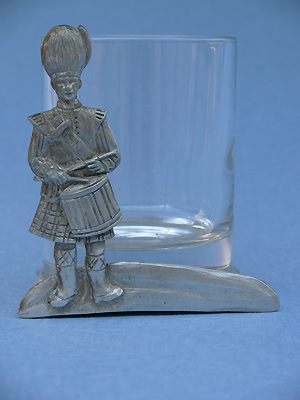 Drummer Two Piece Votive Holder - Lead Free Pewter