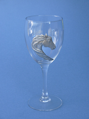 Horse /Mane Wine Glass - Lead Free Pewter
