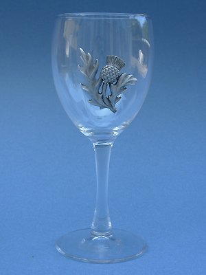 Thistle Wine Glass - Lead Free Pewter